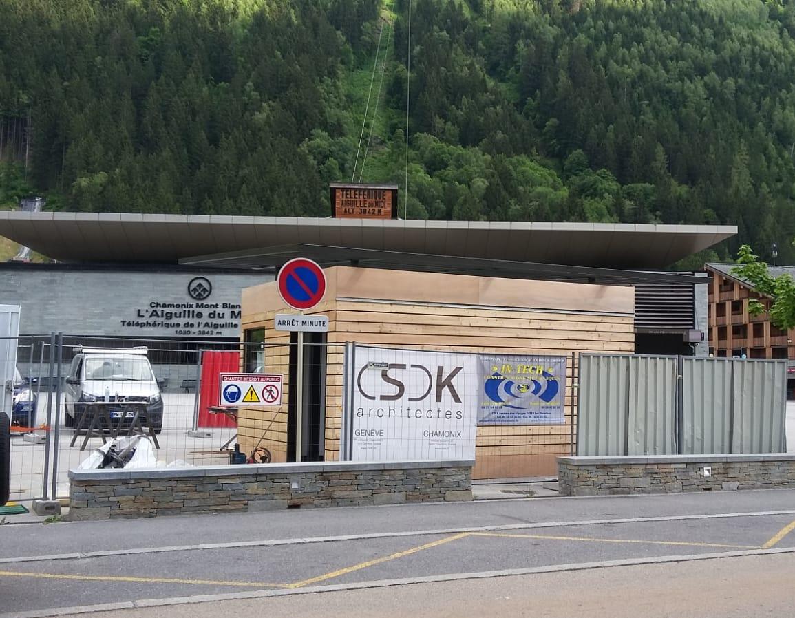 CSDK Architectes Chalet daccueil Aiguille du midi Construction Chantier 01 1 - Billetterie à Chamonix - Construction - CSDK Architectes Chalet daccueil Aiguille du midi Construction Chantier 01 1