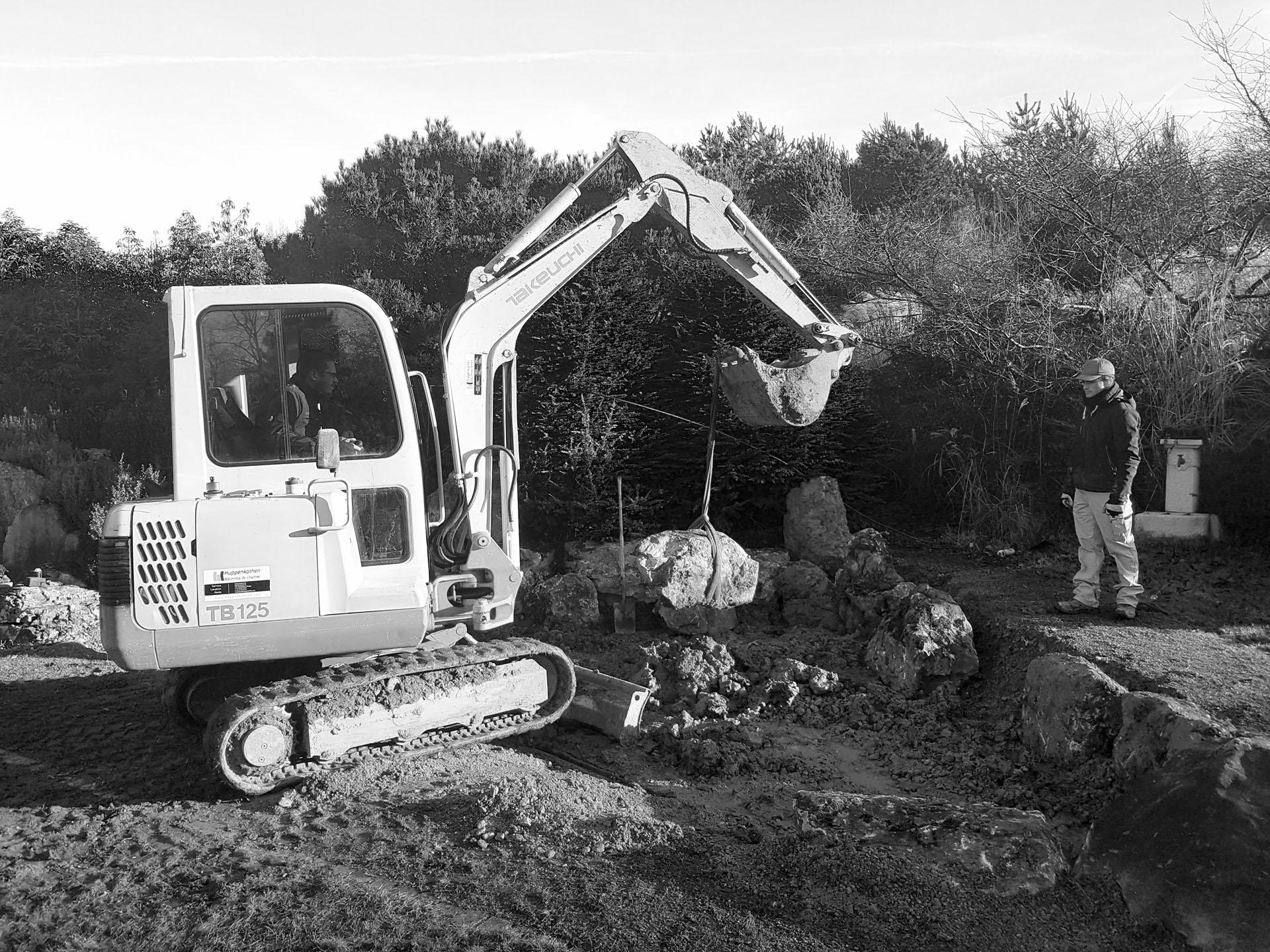 Presinge pond : Work