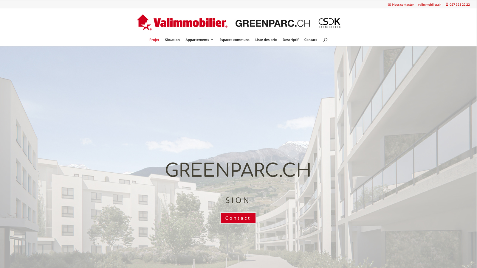 CSDK Architectes Sion Greenparc Website - Mise en ligne du site internet Greenparc ! - CSDK Architectes Sion Greenparc Website