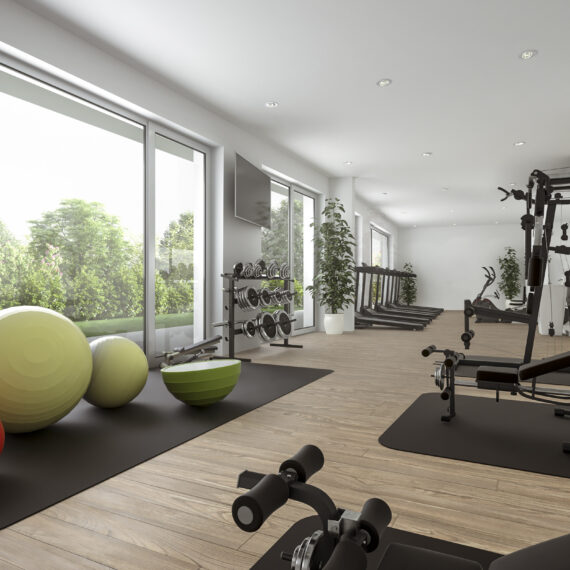 CSDK Architectes Sion immeuble Fitness 1 570x570 - ESPACES COMMUNS GREENPARC - CSDK Architectes Sion immeuble Fitness 1 570x570