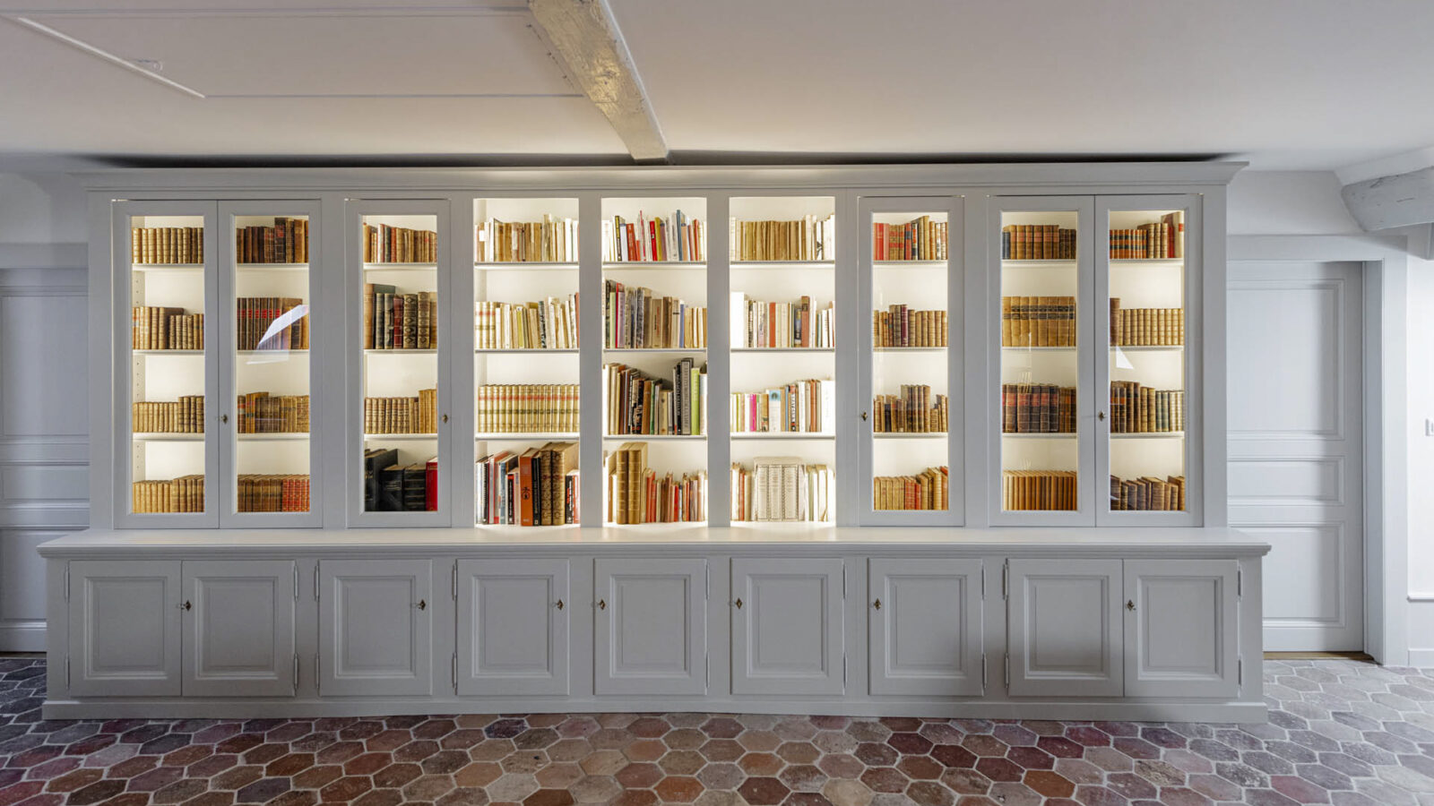 CSDK Architectes Bibliothe%CC%80que Cre%CC%81ation 1600x900 - Custom-made bookcase - Geneva - CSDK Architectes Bibliothe%CC%80que Cre%CC%81ation 1600x900
